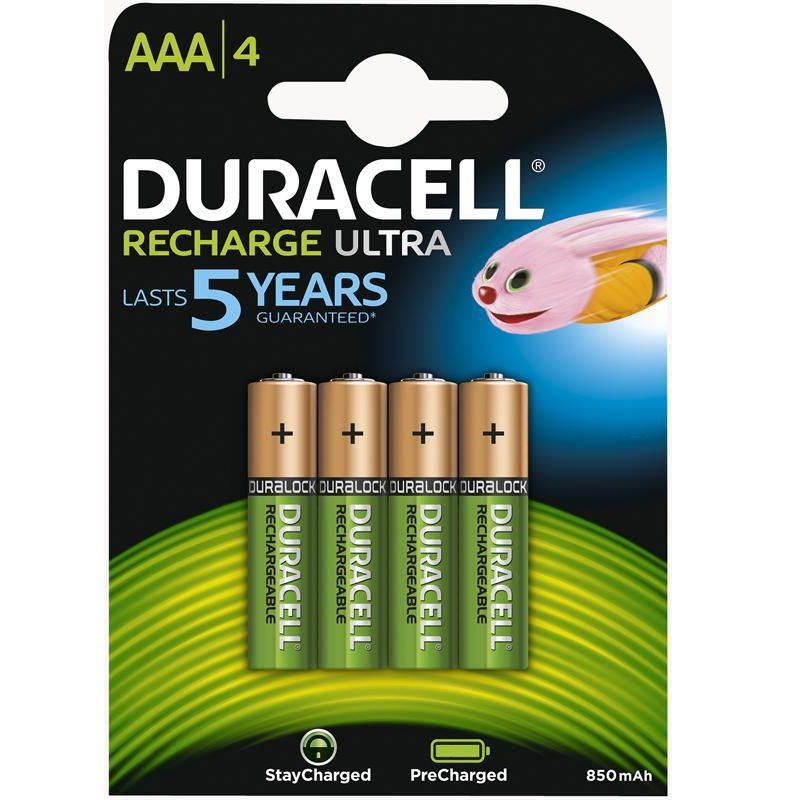 Elementai Duracell Recharge Turbo AAA (4 vnt)