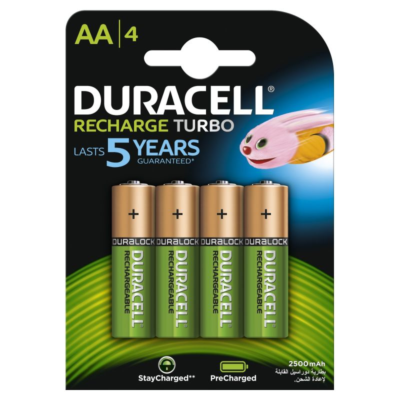 Elementai Duracell Recharge Turbo AA (4 vnt)